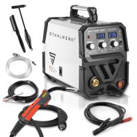 MIG 135 ST IGBT welder with synergic wire feed and real...