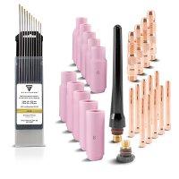 TIG welding consumables kit 36 pcs WP SR Binzel 17 18 26