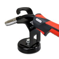 Holder for MIG MAG welding torch with magnet pedestal