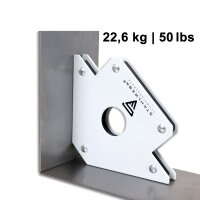 2 × Magnetic welding angles holding 50 lbs