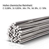 TIG welding filler rods steel / stainless steel / aluminum set / Ø 1,6 x 500 mm / 1 kg including storage box