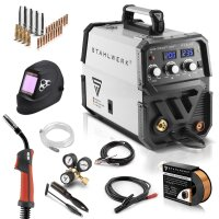 MIG 200 ST IGBT welder with synergic wire feed and real...