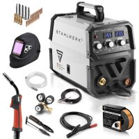 MIG 155 ST IGBT welder with synergic wire feed and real...
