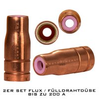 FLUX cored wire nozzle AK-15 up to 200 A set of 2...