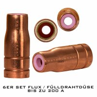 FLUX cored wire nozzle AK-15 up to 200 A set of 6...