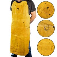 STAHLWERK welding protective apron, real leather, heat...