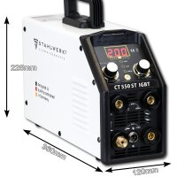 CT 550 ST IGBT - DC TIG/ MMA/ CUT - full equipment set