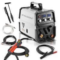 MIG 175 ST IGBT welder with synergic wire feed and real...