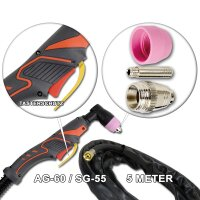 Plasma Cutting Torch AG-60 / SG-55 with 5 Meter cable package up to 70A