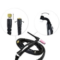 TIG Welding Torch WP-26 hose package 4,5 meter up to 200A