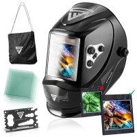 Fully automatic helmet STAHLWERK ST-950XB black shiny